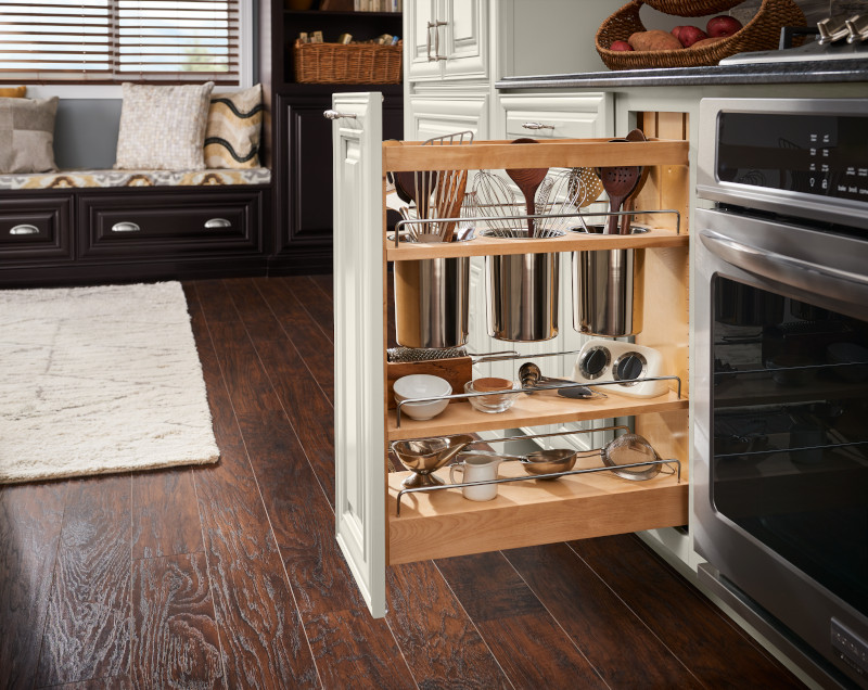 Base Pull Out Utensil Storage